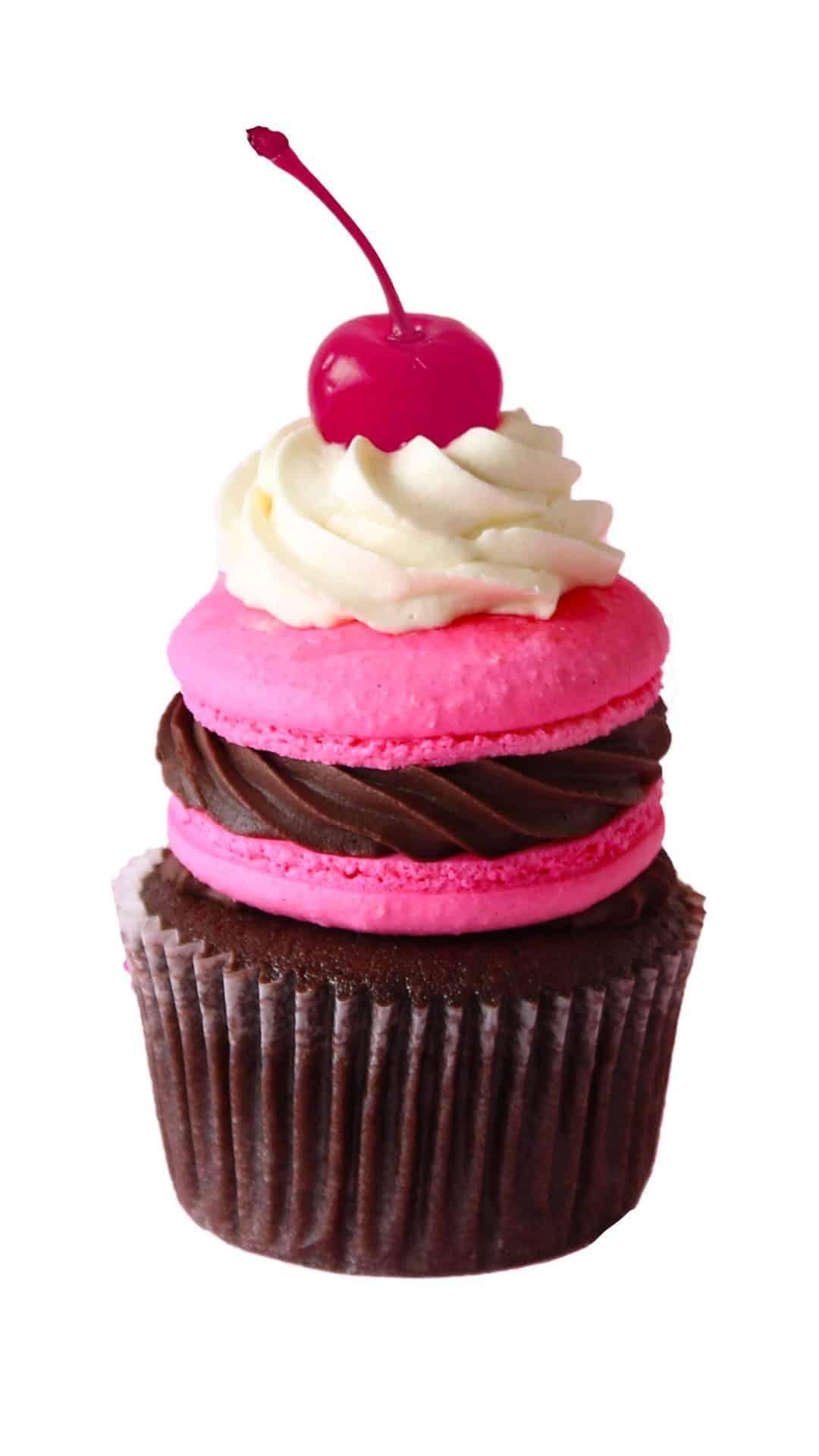 macaron cupcake